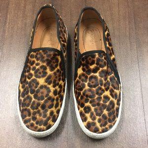 Cheetah Fur Slip On Sneakers